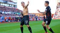 Roberto Firmino dan Philippe Coutinho mengantarkan Liverpool meraih kemenangan atas Stoke City dengan skor 2-1 (8/4/2017). (doc. Liverpool)