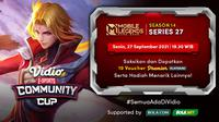 Jadwal dan Live Streaming Vidio Community Cup Season 14 Mobile Legends Series 27, Senin 27 September 2021. (Sumber : dok. com)