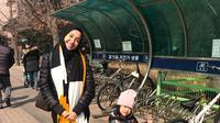 Laudya Cynthia Bella di Korea Selatan. (Instagram/laudyacynthiabella)