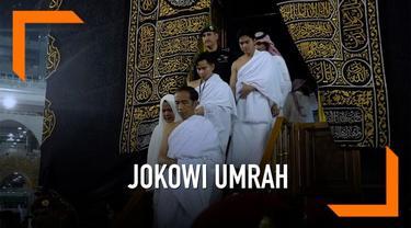 Jokowi dan keluarga melaksanakan rangkaian ibadah umrah bersama keluarga di Makkah, Arab Saudi.