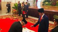 Jokowi melantik Duta Besar Afrika Selatan (Titin Supriyatin/Merdeka.com)