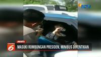 Kendaraan yang ditumpangi Anisa dan Tania Mailinda Nurlitasari sempat dua kali dihalau keluar rangkaian, namun kembali lagi.