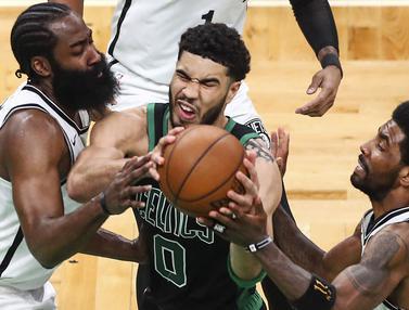 Foto: Amukan Jayson Tatum, Sumbangkan 50 Poin untuk Kemenagan Boston Celtics pada Play-off NBA Hari ini Melawan Brooklyn Nets
