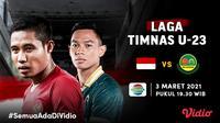 Duel Timnas Indonesia U-23 vs Tira Persikabo, Rabu (3/3/2021) pukul 19.30 WIB dapat disaksikan melalui kanal streaming Indosiar di platform Vidio. (Dok. Vidio)