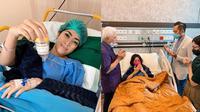Aliya Rajasa yang terbaring di rumah sakit untuk jalani operasi kantong empedu. (Instagram/@ruby_26)
