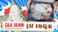 Sensasi gurih buah kelapa dan manisnya gula aren dalam kue dongkal berpadu dalam menu jajanan legendaris khas Betawi. (Foto: Kokiku Tv)