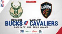 Jadwal NBA, Milwaukee Bucks Vs Cleveland Cavaliers. (Bola.com/Dody Iryawan)