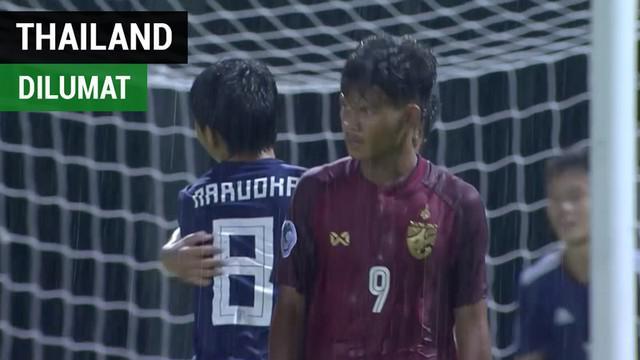 Berita video highlight laga Jepang kontra Thailand yang berakhir dengan skor 5-2 pada Piala AFC U-16 2018 di Kuala Lumpur, Malaysia, Kamis (20/9/2018).