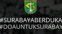 Persebaya mengucapkan duka atas teror bom di Surabaya, Minggu (13/5/2018). (Bola.com/Dok. Persebaya)