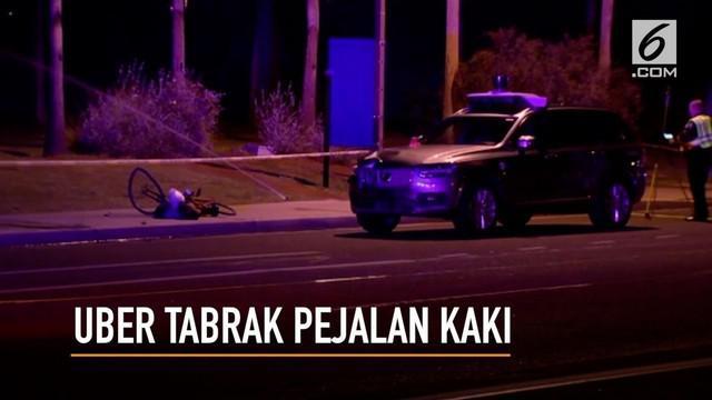 Sebuah mobil Uber tanpa pengemudi menabrak dan menewaskan seorang wanita yang tengah menyebrang jalan di Arizona.