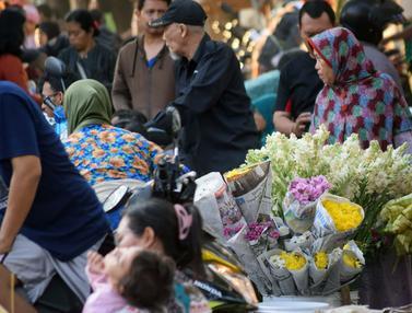 Penjual Bunga untuk Lebaran