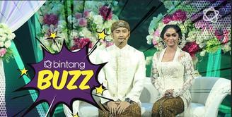 Dewi Perssik dan Angga terlihat memukau dengan kebaya putih dalam acara resepsi di Indonesia Keren 3