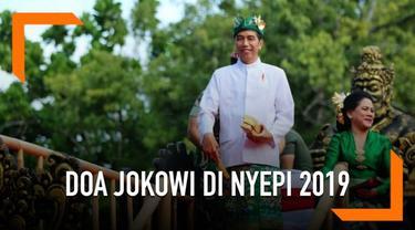 Presiden Joko Widodo, dalam akun Twitter-nya turut berpartisipasi memeriahkan Hari Raya Nyepi di jejaring sosial. Doa dan harapan disampaikannya untuk umat Hindu di Indonesia pada perayaan Nyepi ini.