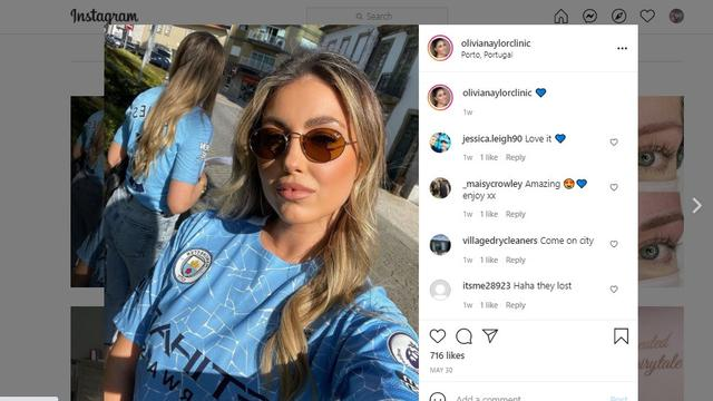 Olivia Naylor, kekasih pemain Manchester City John Stones
