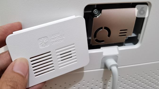 Sensor pendeteksi kualitas udara pada Mi Air Purifier 3C. Liputan6.com/Iskandar
