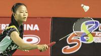 Pebulutangkis tunggal putri Indonesia, Fitriani, berhasil menjadi Juara Kejurnas Bulutangkis 2015. (Bola.com/Vitalis Yogi Trisna)