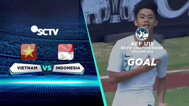 Berita Video Muhammad Valeron Cetak Gol Pembuka Kemenangan Timnas Indonesia U-15 atas Vietnam