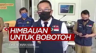 Berita video himbauan dari Gubernur Jawa Barat, Ridwan Kamil, untuk Bobotoh agar bisa kembali menyaksikan Persib berlaga.
