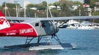 Pesawat amfibi DHC-2 Beaver yang dioperasikan oleh firma pariwisata Sydney Seaplanes. Salah satu pesawat yang dikelola firma itu jatuh di Sydney (31/12/2017) dan menewaskan 6 orang yang diduga penumpang dan pilot (Supplied/Sydney Seaplanes)
