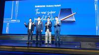 Peluncuran Galaxy Note 9 di Jakarta oleh President Samsung Electronics Indonesia Jaehoon Kwon, Kamis (23/8/2018). Liputan6.com/ Agustin Setyo Wardani