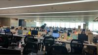 Suasana ruangan di kantor Bank Mandiri (Foto:Liputan6.com/Maulandy R)