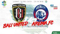 Liga 1 2018 Bali United Vs Arema FC (Bola.com/Adreanus Titus)