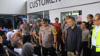 Kapolda Metro Jaya meninjau Bandara Soekarno-Hatta. (Liputan6.com/Pramita Tristiawati)