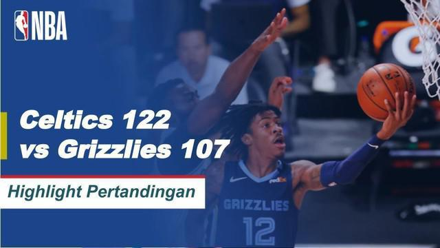 Berita Video Highlights NBA, Boston Celtics Kalahkan Memphis Grizzlies 122-107