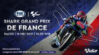 Live Streaming MotoGP Prancis 2021 Hari Ini di FOX Sports. (Sumber : dok. vidio.com)