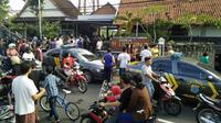 Suasana Gereja Santa Lidwina Gamping, Sleman, Yogyakarta, usai penyerangan pada Minggu (11/2/2018) pagi. (Liputan6.com/Switzy Sabandar)
