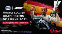 Live Streaming F1 Catalunya Series di FOX Sports. (Sumber : dok. vidio.com)