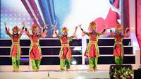 Acara seremoni Pembukaan Final Nasional Lomba Cerdas Cermat (LCC) Empat Pilar MPR 2019 pada Senin (28/10/2019), di Gedung Nusantara IV