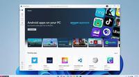 Aplikasi Android bisa didapatkan dari Amazon Appstore dalam Microsoft Store Windows 11. (Microsoft)