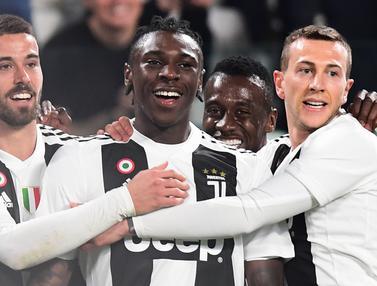 FOTO: Tanpa Cristiano Ronaldo, Moise Kean Bawa Juventus Bersinar