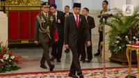 Presiden Joko Widodo atau Jokowi bersiap melantik Yudian Wahyudi sebagai Kepala Badan Pembinaan Ideologi Pancasila (BPIP) dan Muhammad Yusuf Ateh sebagai Kepala Badan Pengawasan Keuangan dan Pembangunan (BPKP) di Istana Negara, Jakarta, Rabu (5/2/2020). (Liputan6.com/Faizal Fanani)