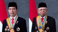 Hasil foto kenegaraan Jokowi-Ma'ruf yang dipotret oleh Darwis Triadi. (sumber: Darwis Triadi via twitter @arbainrambey)