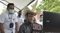 Menteri Pendidikan dan Kebudayaan (Mendikbud) Nadiem Makarim mengunjungi Kabupaten Rote Ndao, NTT untuk mengecek proses pembelajaran selama pandemi Covid-19. (Dok Kemendikbud)