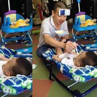 Begini cara dan gaya bapak-bapak saat mengurus bayi. (Sumber Foto: viral4real)