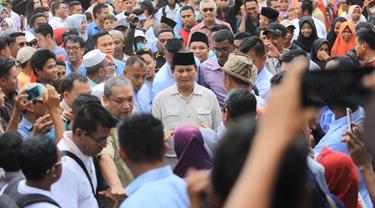 Prabowo Subianto di Lombok