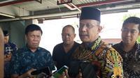 Kepala Kejati Sulsel, Tarmizi mengatakan pihaknya gandeng KPK dalam penuntasan kasus dugaan korupsi lampu jalan di Sulbar (Liputan6.com/ Eka Hakim)