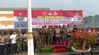 Upacara penutupan Operasi Mantap Brata dalam rangka pengamanan Pemilu 2019. (Nur Habibie/Merdeka.com)