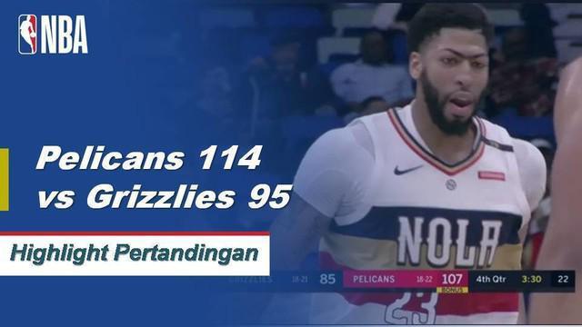 Anthony Davis dengan 36 poin 13 rebound ganda-ganda dalam kemenangan melawan Grizzlies 114-95.