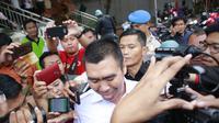 Wali Kota Malang non aktif Moch Anton usai diperiksa penyidik KPK di aula Mapolres Malang Kota (Liputan6.com/Zainul Arifin)