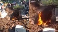 Viral video liang lahat keluarkan api. (Instagram/@polsekmagelangselatan)