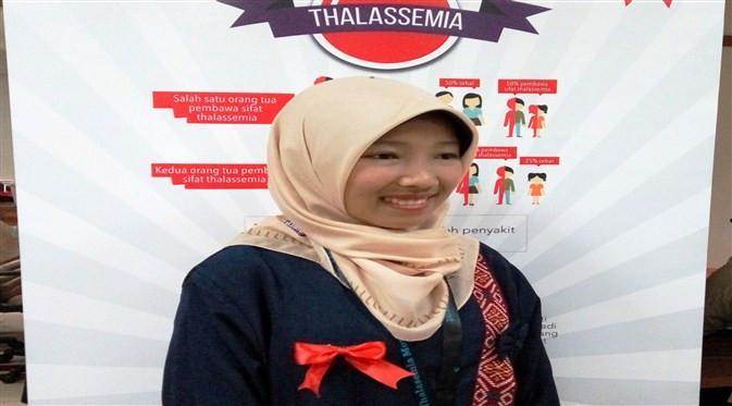 Meski mengidap thalasemia, Annisa tetap semangat untuk menjalani transfusi darah. (Foto: Liputan6.com/Fitri Haryanti Harsono)