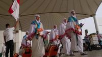 Jemaah haji tiba di Bandara King Abdulaziz, Jeddah. Darmawan/MCH