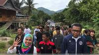 Cagub Sulsel, Nurdin Abdullah blusukan ke daerah pelosok di Sulsel (Liputan6.com/ Eka Hakim)