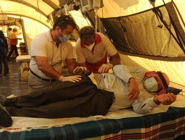 FOTO: Usai Ledakan, Rumah Sakit Lapangan Iran Beroperasi di Lebanon