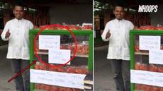 Jika biasanya pedagang mencari untung besar, namun hal berbeda malah dilakukan pria penjual roti ini.