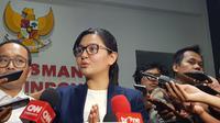 Sekjen PSSI, Ratu Tisha Destria, menegaskan pemeriksaan dirinya sama sekali tak ada kaitan dengan penangkapan tersangka pengaturan skor. (Bola.com/Zulfirdaus Harahap)